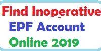 Find Inoperative EPF Account