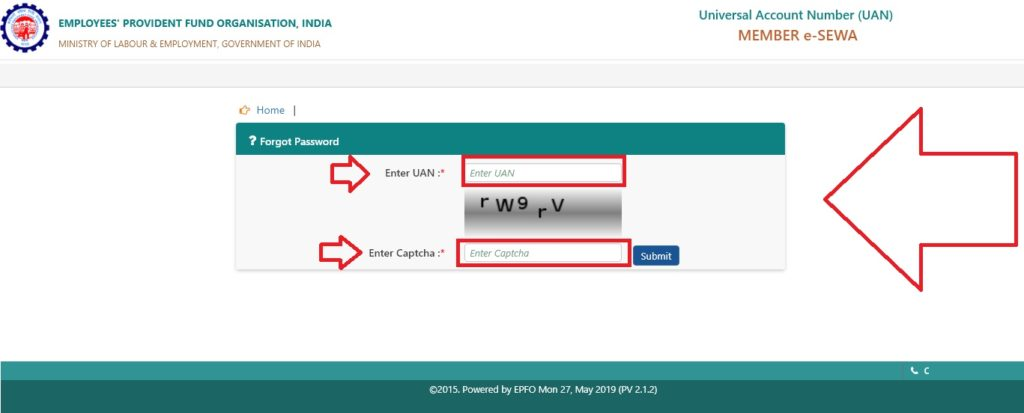 Change EPF UAN Login Password if Mobile Number Reset or Update