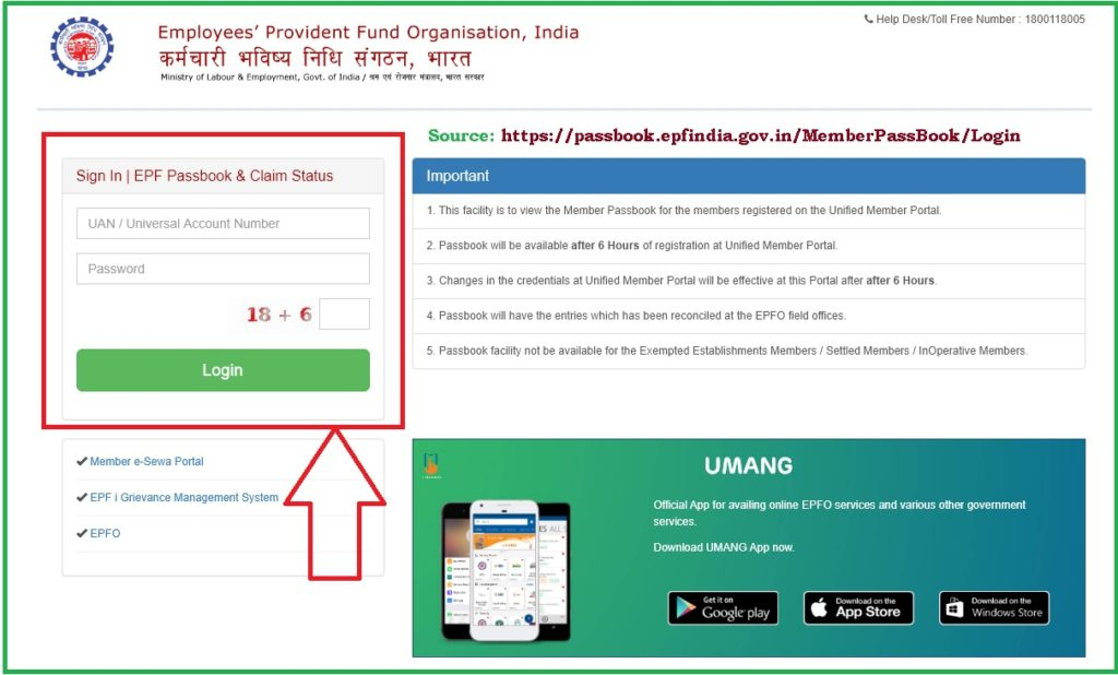epf claim status without uan number at https://passbook.epfindia.gov.in/MemClaimStatusUAN/