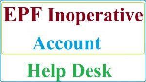 Inoperative EPF Account